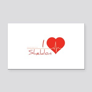 I love Sheldon Rectangle Car Magnet