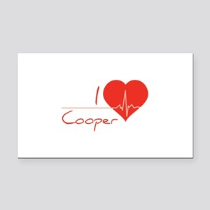 I love Cooper Rectangle Car Magnet