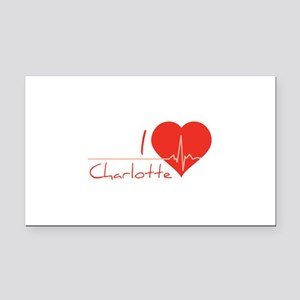 I love Charlotte Rectangle Car Magnet