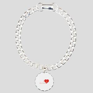 I love Charlotte Charm Bracelet, One Charm
