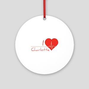 I love Charlotte Ornament (Round)