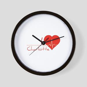 I love Charlotte Wall Clock
