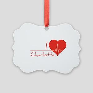 I love Charlotte Picture Ornament