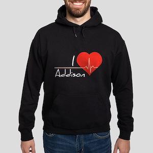 I love Addison Hoodie (dark)