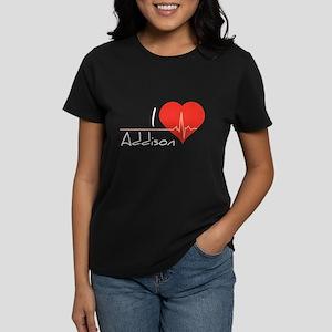 I love Addison Women's Dark T-Shirt