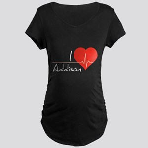 I love Addison Maternity Dark T-Shirt