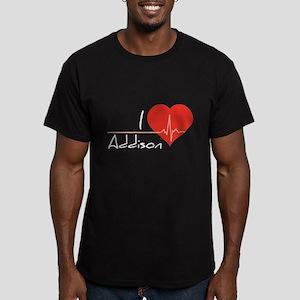 I love Addison Men's Fitted T-Shirt (dark)