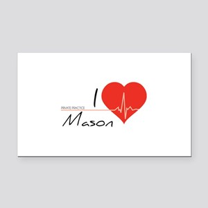 I love Mason Rectangle Car Magnet