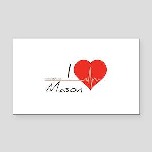 I love Mason Rectangle Car Magnet