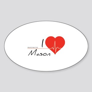 I love Mason Sticker (Oval)