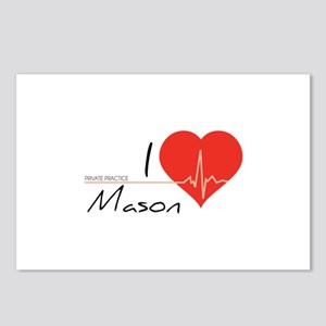 I love Mason Postcards (Package of 8)