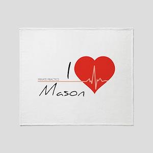 I love Mason Throw Blanket