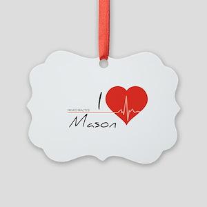 I love Mason Picture Ornament