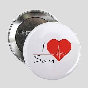 """I love Sam 2.25"""" Button"""