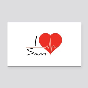 I love Sam Rectangle Car Magnet