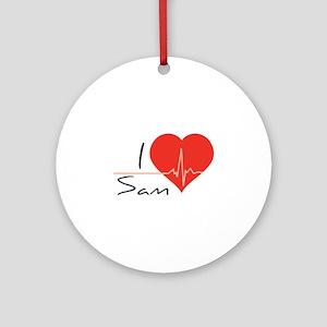 I love Sam Ornament (Round)