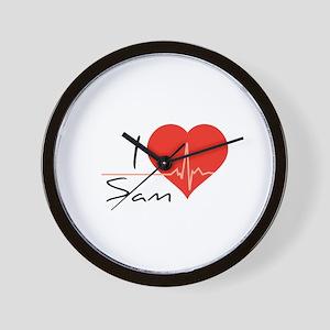 I love Sam Wall Clock