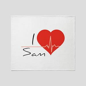 I love Sam Throw Blanket