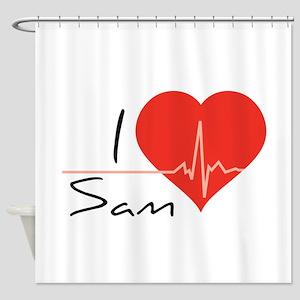 I love Sam Shower Curtain