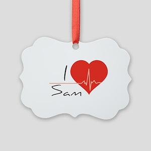 I love Sam Picture Ornament