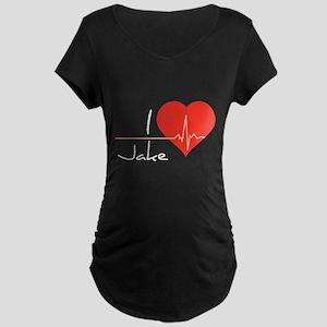 I love Jake Maternity Dark T-Shirt