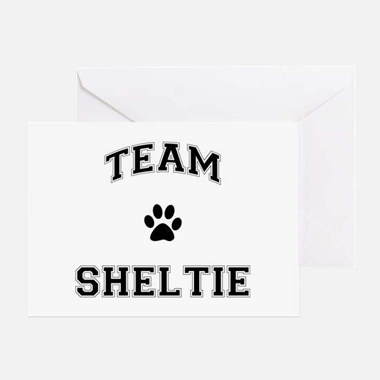 Team Sheltie Greeting Card