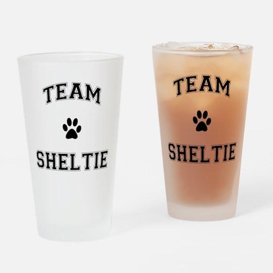 Team Sheltie Drinking Glass