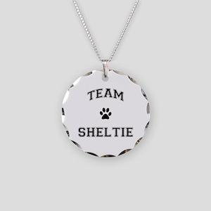 Team Sheltie Necklace Circle Charm