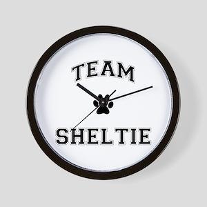 Team Sheltie Wall Clock