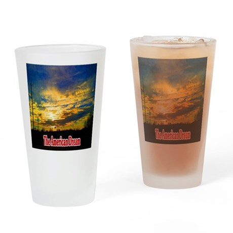 The American Dream Drinking Glass