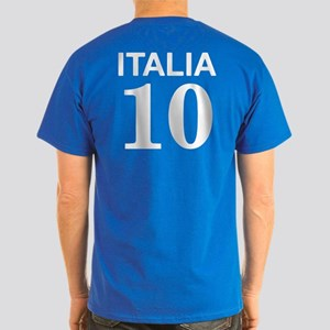 Italia Forza Azzurri 2 side print Dark T-Shirt