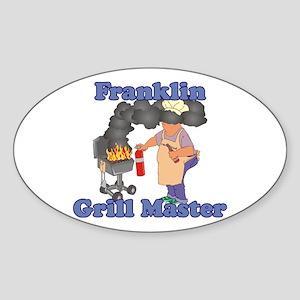 Grill Master Franklin Sticker (Oval)