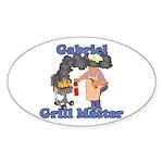 Grill Master Gabriel Sticker (Oval)