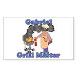Grill Master Gabriel Sticker (Rectangle)