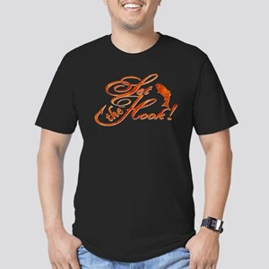 Set the Hook Rust Men's Fitted T-Shirt (dark)