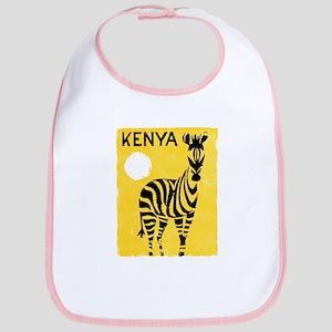 Kenya Travel Poster 1 Bib