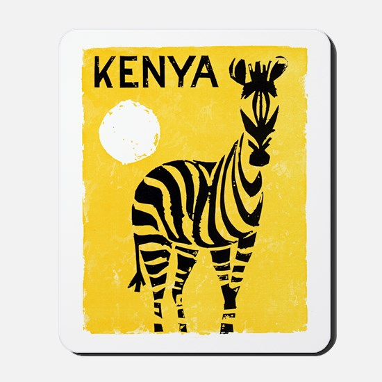 Kenya Travel Poster 1 Mousepad