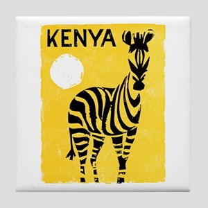 Kenya Travel Poster 1 Tile Coaster