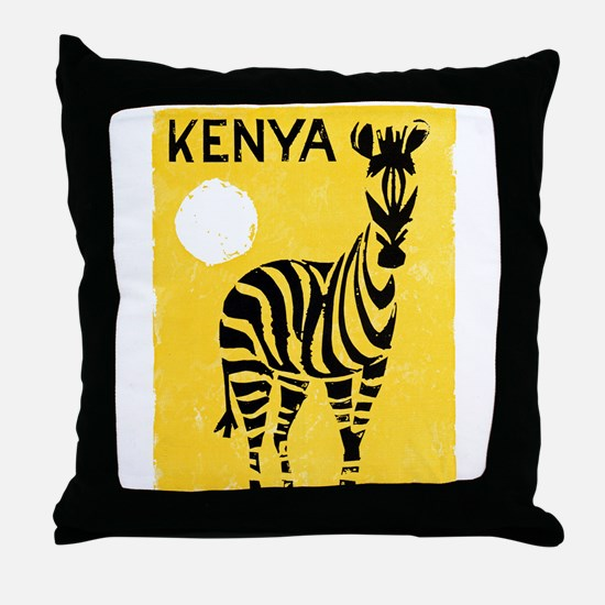 Kenya Travel Poster 1 Throw Pillow