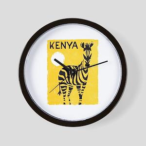 Kenya Travel Poster 1 Wall Clock
