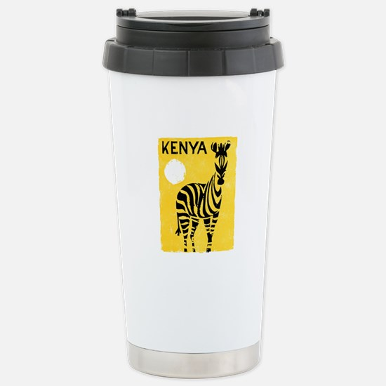 Kenya Travel Poster 1 Stainless Steel Travel Mug