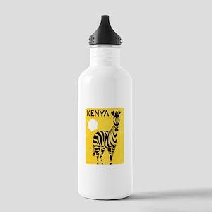 Kenya Travel Poster 1 Stainless Water Bottle 1.0L