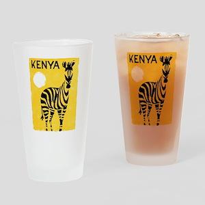 Kenya Travel Poster 1 Drinking Glass