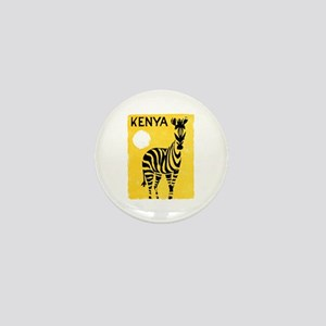 Kenya Travel Poster 1 Mini Button
