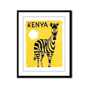 Kenya Travel Poster 1 Framed Panel Print