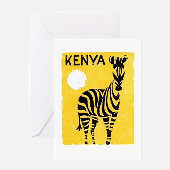 Kenya Travel Poster 1 Greeting Card