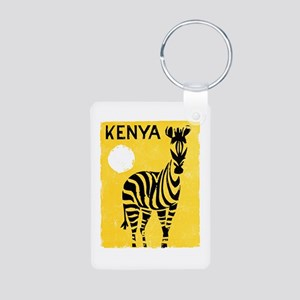 Kenya Travel Poster 1 Aluminum Photo Keychain