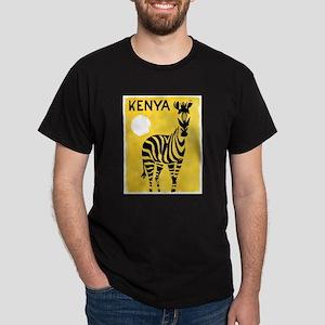 Kenya Travel Poster 1 Dark T-Shirt