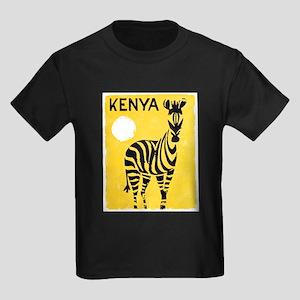 Kenya Travel Poster 1 Kids Dark T-Shirt