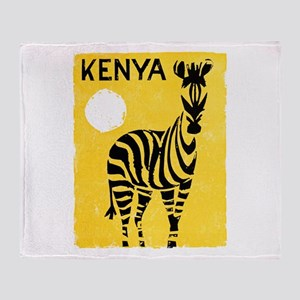 Kenya Travel Poster 1 Throw Blanket